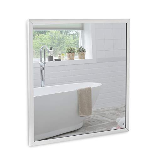 Allpax Infrarot Spiegelheizung 300 Watt - 60 x 60 x 3 cm - Wand- & Deckenmontage - Badezimmerheizung - Thermostate optional erhältlich