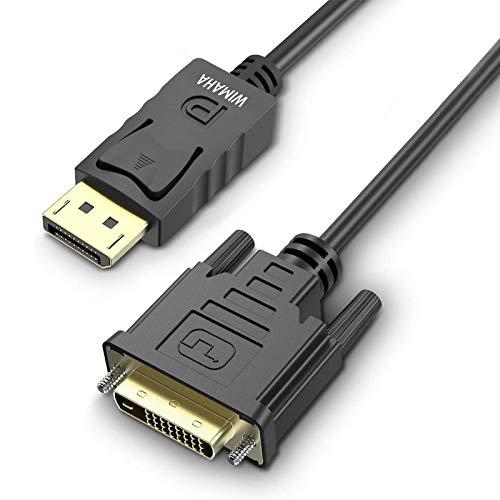 Wimaha DisplayPort auf DVI Kabel,1.8m Verbindungskabel