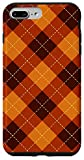 iPhone 7 Plus/8 Plus Halloween Autumn Season Orange Plaid Fall Pumpkin Gift Case