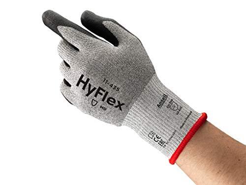 Ansell HyFlex 11-435 Schnittschutz-Handschuhe, Mechanikschutz, Schwarze, Größe 9 (12 Paar pro Beutel)