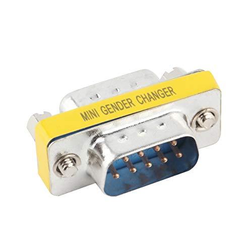 Ashley GAO 1pcs 9 Pin RS-232 DB9 macho a macho serie cable de género cambiador acoplador adaptador Caliente WorldwidePromoción
