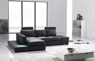 t35 mini modern leather sectional sofa