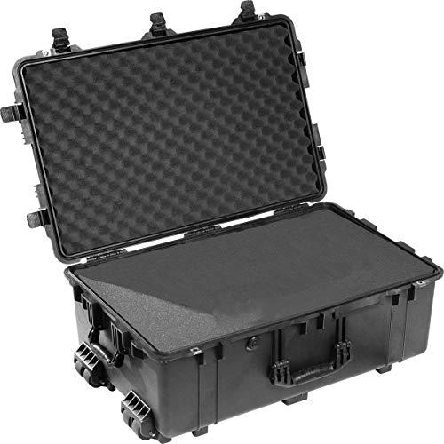 PELI Koffer 1650 - Ausführung: mit Schaumstoff-Einsatz: Rasterschaumstoff zur individuellen Anpassung im Boden, Noppenschaumstoff im Deckel, Gewicht kg: 13.4