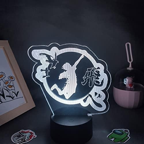 Haikyuu Anime Figura Logo Mark 3D LED RGB USB Luces de noche regalo para amigos Otaku cama mesa hogar manga lava lámpara decoración