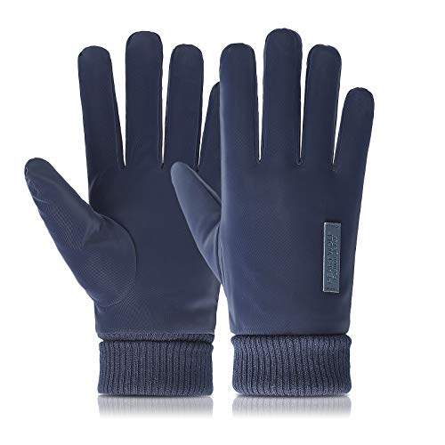 Aobp Touchscreen Handschuhe Warme Handschuhe Winddicht Wasserdicht Fahrradhandschuhe Winterhandschuhe Outdoor Laufhandschuhe Sporthandschuhe Skihandschuhe für Unisex(Blau)