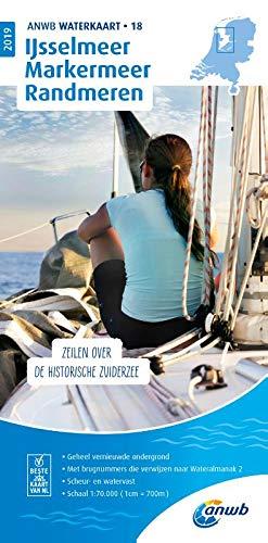 Waterkaart 18 Ijsselmeer-Markerme 1:50 000 (ANWB waterkaart (18))