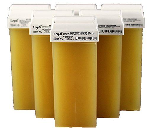 Leydi Warmwachspatronen Honig 6 Stück je 100ml - Nachfüllset Wachspatrone