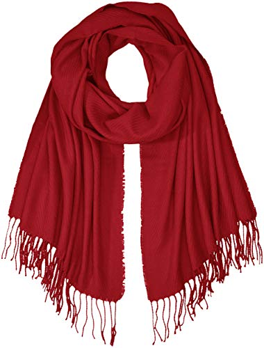 PIECES Damen PCKIAL LONG SCARF NOOS Schal, Rot Scooter, One Size