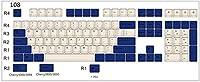 耐久性 PBTキーキャップのマッチング海軍1セット、MXメカニカルキーボード色素等高線キーキャップスイッチ 綺麗な (Color : 108 keys)
