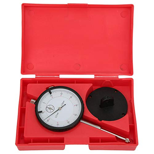 White Dial 0-0.7mm Range 0.01mm Graduation Starrett 711MGCSZ Last Word Dial Test Indicator with Attachments 0-35-0 Reading