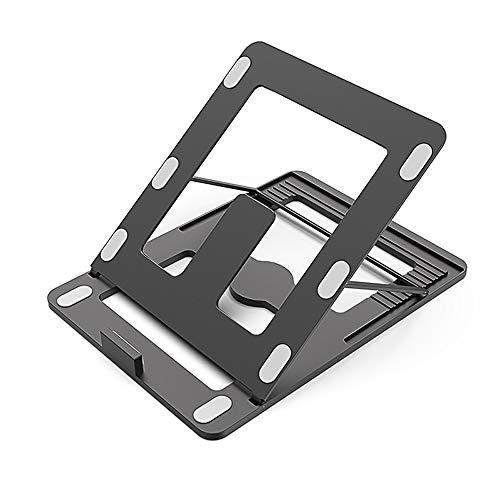 DS ⓇNotebook-Kühler Notebook-Ständer - Aluminium/Silikon, Zehnfach-Verstellung, Hohle Wärmeableitung, einfache, universelle, hochauflösende, klappbare Tragewinkel für Tischheizkörper - 3 Farben Opti