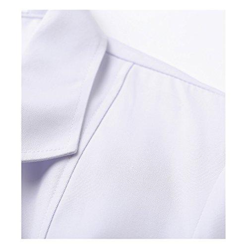 Lange abschnitt langärmelige weiß arbeit kittel ärzte krankenschwestern bekleidung arbeitskleidung (damen, S) - 4