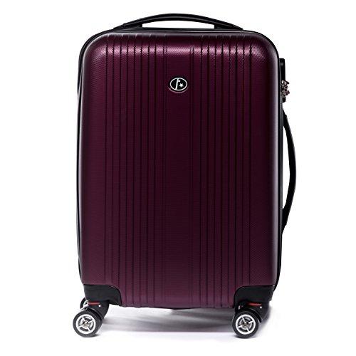 FERGÉ Set di tre valigie TOULOUSE - bagaglio rigide duro da 3 - tre pz. valigie con 4 ruote (360) ABS rossocupo
