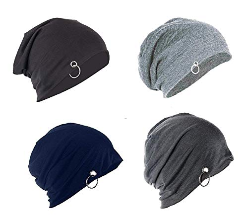 "FASHMADE ""Where Fashion is Made"" Men's and Women's Beanie Cap ( Multicolour , Free Size ) Combo Pack of 4"
