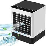 Mini Condizionatore Portatile, 3-In-1Personale Mini Ventilatore Vaporativo Refrigeratore D'Aria Umidificatorepurificatore Diffusore Di Aromi|3 Velocità Regolabili USB
