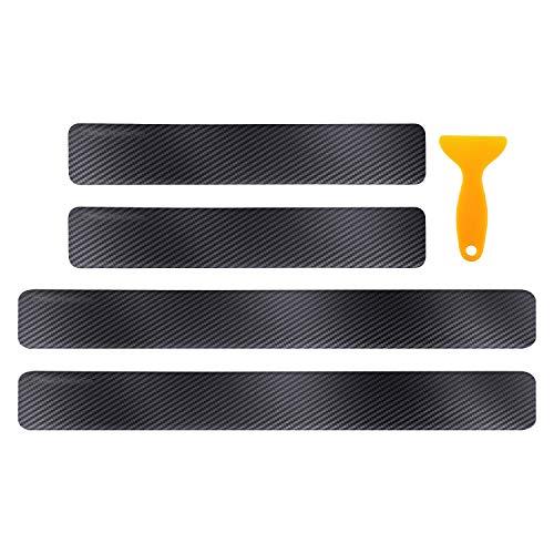 4 Stück Auto Einstiegsleisten Aufkleber Carbon Auto Tür Schritt Platte Abdeckung Anti Scratch Aufkleber