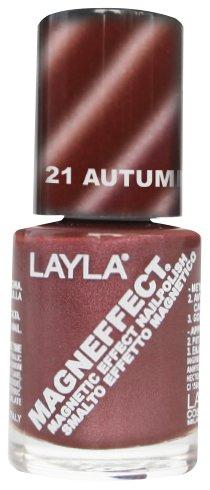 Layla Cosmetics MagneEffect Nagellak, autumn bruin, 1-pack (1 x 0,01 L)