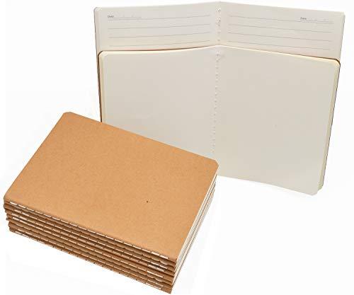 AiYoYo 10 Stück Klein Notizblock Notizhefte von Paper(30Blatt) Mini Notizbuch 14.0x10.0cm. Kraft Cover 5 Leer Seite/5 Liniert Seite TagebuchSchulhefte(100g/m²).Gut für Memos, Skizzen, Graffiti
