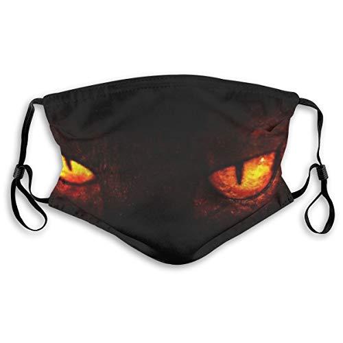 fgjfdjj Demon Eyes Hautfreundliche Gesichtsmaske Halsmanschette für 5-Lagen-Aktivkohlefilter für Männer und Frauen