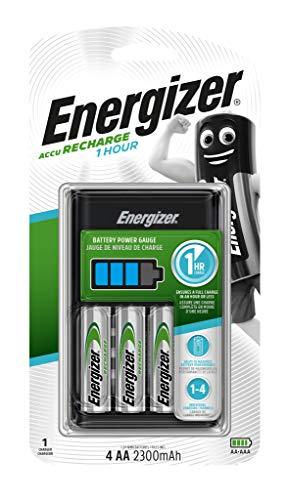 Energizer 1H 4x AA 2300mAh rápido–1Hora o Menos Cargadores