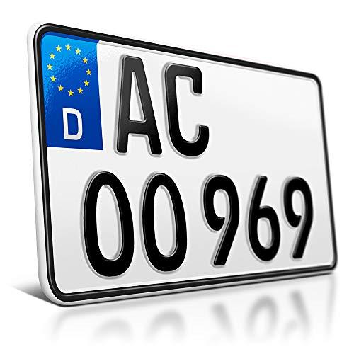 schildEVO 1 Kfz Kennzeichen | 240 x 130 mm | Motorrad & Roller | Traktor | Leichtkraftrad | Anhänger | Motorrad-Nummernschild | Saison