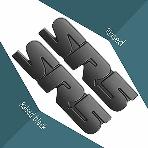 2 개 TACOM S-R-5 블랙 엠블럼 오버레이 4RUNNE-R TUNDR-A3D 제기 ABS 플라스틱(2SR5)