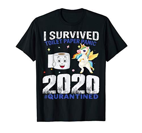 Einhorn Klopapier Toilettenpapier Panik Unicorn 2020 T-Shirt