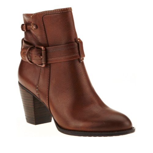 FLY London Suede Ankle Boots Stud Details Duke Womens Brick EU36 US 5.5-6