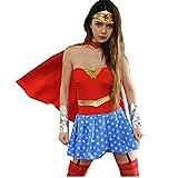XIAOQSM Disfraz De Cosplay De Supergirl, Etapa De Halloween Cosplay Traje Uniforme Red-L