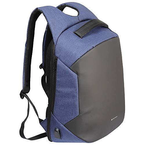Toplock Mochila antirrobo Azul Impermeable con Cierre Oculto para Hombre y Mujer. para Viaje/Trabajo/Estudios.para portátil 15,6 Pulgadas Puerto USB Muy espaciosa. Bobby Nomad Backpack
