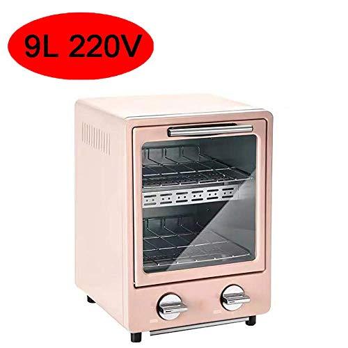 Mini Doppel Öfen Fern-Infrarot-Heizung Design Multi-Funktions-Frühstück Maschine kompakt und leicht zu Platz ist der Beste Partner in Ihrer Küche Rosa