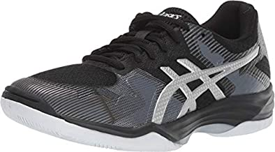 ASICS Women's Gel-Tactic 2 Volleyball Shoes, 9.5, Black/Silver