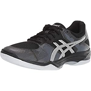 ASICS Women's Gel-Tactic 2 Volleyball Shoes, 8.5, Black/Silver