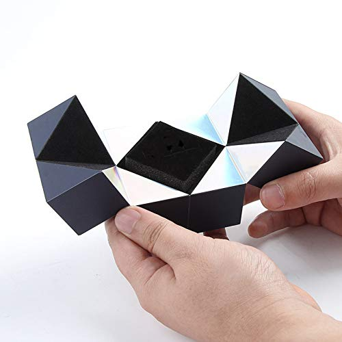 CMTKJ Caja de anillos con forma de cubo mágico, caja de joyería creativa para el día de San Valentín, aniversario, matrimonio, compromiso, fiesta, cumpleaños
