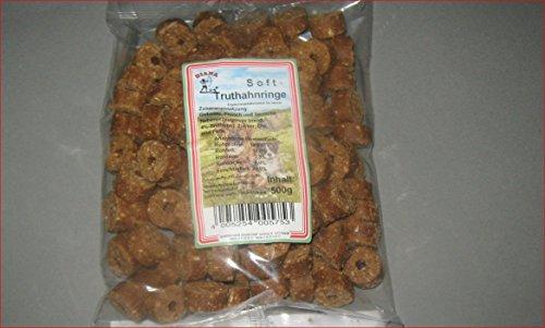 Diana Soft -Truthahnringe 500 g Hunde Futter Leckerlies Soft -Truthahnringe