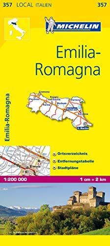 Michelin Emilia Romagna: Ortsverzeichnis, Entfernungstabelle, Stadtpläne (MICHELIN Localkarten)