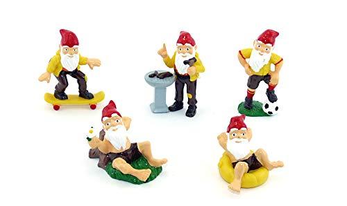 Wurzelpeter 5er Set Figuren Gummifiguren. Die 5 coolen Zwerge