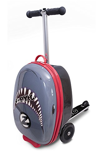 ZincFlyte Kid's Luggage Scooter 18' - Snapper The Shark, one Size, Grey