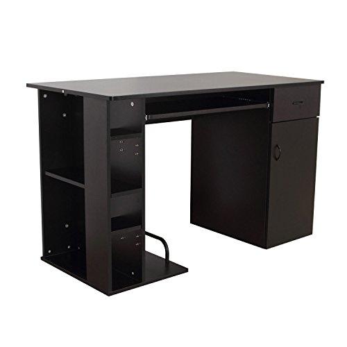 HOMCOM Computertisch Eckschreibtisch Winkelschreibtisch Schreibtisch Bürotisch PC Tisch, Verschiedene Modelle (Modell 6/Schwarz)