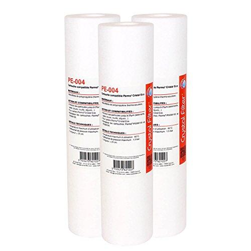 Crystal Filter Cartouche Compatible Permo Cristal Eco - P0088155 PE-004 (Lot de 3)