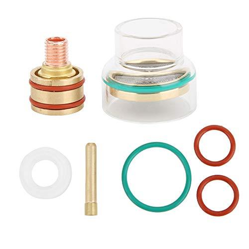 TFM53NCN Kit de soldadura TIG Antorcha TIG Pinza de copa de vidrio para antorcha de soldadura para WP9 WP20 para soldadura precisa y trabajos pequeños(3,2 mm)