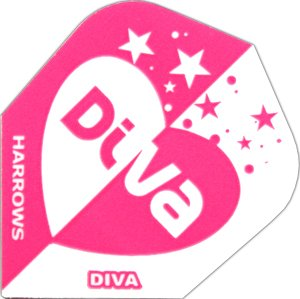 Harrows Diva Dart Flights Herz, 1 Set = 3 Stück