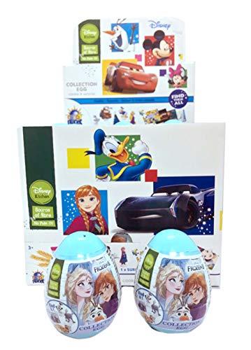 Ovetti Disney Kitchen Frozen II. Collection Egg Cookie & Surprise. Ogni Ovetto contiene 1 Biscotto Cookie, una Sorpresa e Adesivi Disney. Ideali per Caramellate [18 Ovetti]