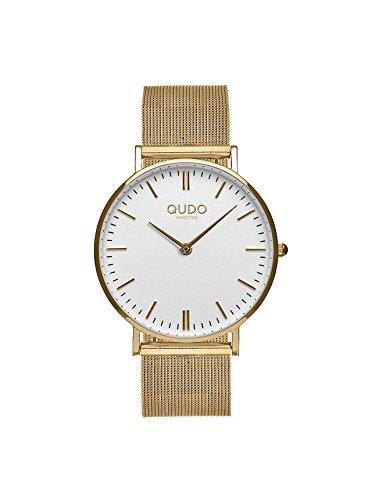 Qudo Eterni Damenuhr Uhr gold/gold/weiß 820001/808085