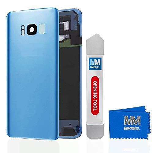 MMOBIEL Backcover Akkudeckel Rück Klappe mit Linse kompatibel mit Samsung Galaxy S8 Plus G955 6.2 Inch (Coral Blue)
