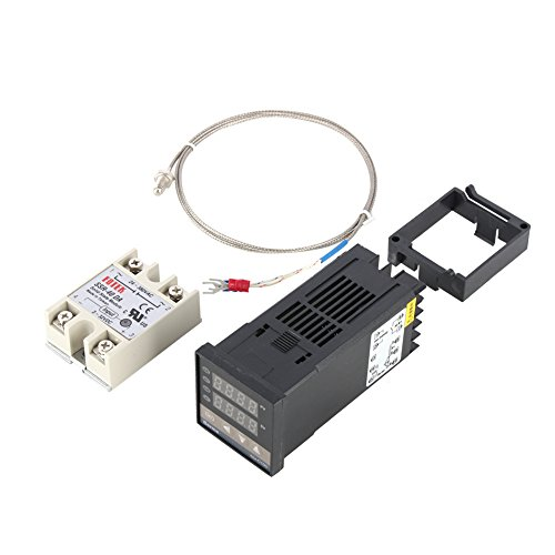 Hilitand 0 ℃ ~ 400 ℃ Alarm REX-C100 Digital Intelligente Thermostat LED PID Temperaturregler Kits AC110V-240V