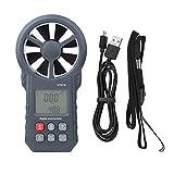 Misuratore di velocità del vento, anemometro portatile a misurazione rapida portatile, ac...
