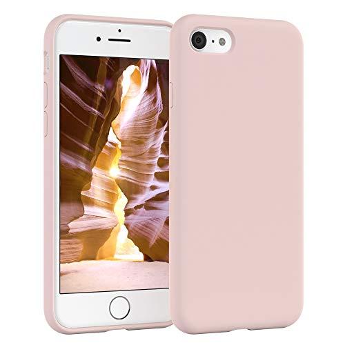 EAZY CASE Premium Silikon Handyhülle kompatibel mit Apple iPhone 8/7 / SE (2020), Slimcover mit Kameraschutz und Innenfutter, Silikonhülle, Schutzhülle, Bumper, Handy Case, Softcase, Alt Rosa