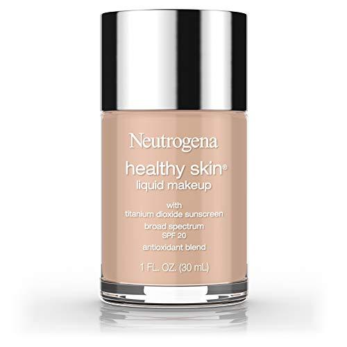 Neutrogena Healthy Skin Liquid Makeup Foundation, Broad Spectrum SPF 20 Sunscreen, Lightweight & Flawless Coverage Foundation with Antioxidant Vitamin E & Feverfew, 90 Warm Beige, 1 fl. oz