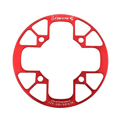 SET-SAIL Setsail Fahrrad Mountainbike-Kettenrad Farradtasche Kettenrad-Abdeckung Zäh Kettenschutz Kettenradgarnitur, Singlespeed, Festgetriebe (Rot)